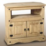Seconique Flat Packed Corona Pine Corner Tv Cabinet