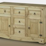Seconique Flat Packed Corona Pine 2 Door 5 Drawer Sideboard