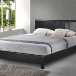 Birlea 4ft Berlin Small Double Black Faux Leather Bed Frame
