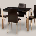 Seconique Charisma 120cm Black Gloss Dining Table And 4 Chairs Set