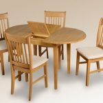 Seconique Oxford 105cm Oak Extending Dining Table And 4 Chairs Set