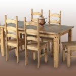 Seconique Corona 182cm Pine Dining Table And 6 Chairs Set
