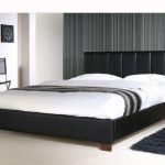 Limelight 4ft Pulsar Small Double Black Faux Leather Bed Frame