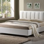 Limelight Pulsar Double White Faux Leather Bed Frame