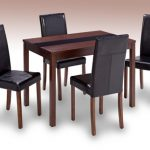 Lpd Ashleigh 114cm Walnut Dining Table And 4 Chairs Set