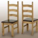 Seconique Corona Set Of 2 Pine And Brown Dining Chairs