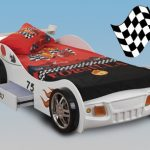 Sweet Dreams Sonic White Single Racing Car Bed Frame