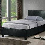 Birlea Berlin Single Black Faux Leather Bed Frame