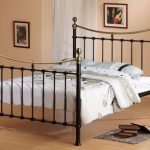 Time Living Elizabeth Double Black And Brushed Nickel Metal Bed Frame