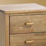 Serene Assembled Eleanor Honey Oak 3 Drawer Bedside Cabinet