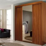 Rauch Imperial Walnut 2 Sliding Doors And 1 Mirrored Door Double Wardr