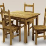 Lpd Ecuador 100cm Mexican Pine Dining Table And 4 Chairs Set