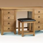 Julian Bowen Assembled Marlborough Oak Double Pedestal Dressing Table