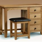 Julian Bowen Assembled Marlborough Oak Single Pedestal Dressing Table