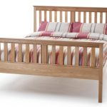 Serene Salisbury King Size Oak Bed Frame (high Footend)