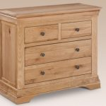 Lpd Assembled Worthing Oak 2+2 Chest Of Drawers