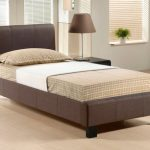 Time Living Hamburg Single Brown Fabric Bed Frame
