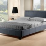 Time Living Hamburg Double Grey Fabric Bed Frame