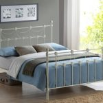 Time Living Omero Double Ivory Metal Bed Frame