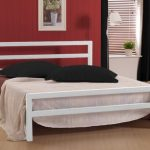 Time Living City Block Double White Metal Bed Frame