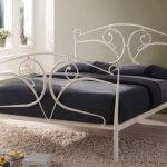 Time Living Seline Double Ivory Metal Bed Frame