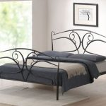 Time Living Seline Double Black Metal Bed Frame