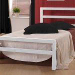 Time Living City Block Single White Metal Bed Frame