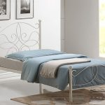 Time Living Melissa Single Ivory Metal Bed Frame