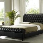 Time Living Richmond Double Brown Faux Leather Bed Frame