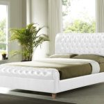Time Living Richmond Double White Faux Leather Bed Frame