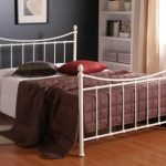 Time Living Alderley King Size Ivory Metal Bed Frame
