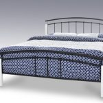 Serene Tetras Double Black Metal And White Bed Frame
