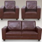 Annaghmore Queensbury Faux Leather 3+1+1 Seater Sofa Set