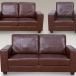 Annaghmore Queensbury Faux Leather 3+2+1 Seater Sofa Set