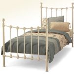 Serene Marseilles Single Ivory Metal Bed Frame
