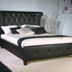Limelight Epsilon Super King Size Black Faux Leather Bed Frame