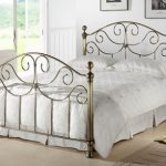 Time Living Victoria Double Brass Bed Frame With Brass Finials