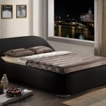 Time Living Manhattan Double Black Faux Leather Bed Frame