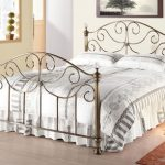 Time Living Victoria Double Brass Bed Frame With Crystal Finials