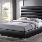 Time Living Chessington Double Black Faux Leather Bed Frame