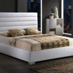 Time Living 4ft Chessington Small Double White Faux Leather Bed Frame