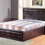 Gfw Hollywood Double Black Faux Leather Ottoman Bed Frame