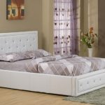 Gfw Hollywood Double White Faux Leather Ottoman Bed Frame