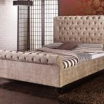 Limelight Orbit King Size Mink Velvet Fabric Bed Frame