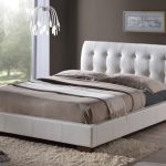 Time Living Boston King Size White Faux Leather Bed Frame