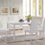Heartlands Trogon 150cm White Dining Table And 6 White Faux Leather Ch