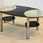 Heartlands Flat Packed Ibis Glass And Chrome Coffee Table