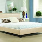 Time Living Hamburg King Size Cream Faux Leather Bed Frame