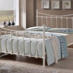 Time Living Florida Double Ivory Metal Bed Frame