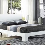 Heartlands Arden King Size White Gloss Bed Arden Frame